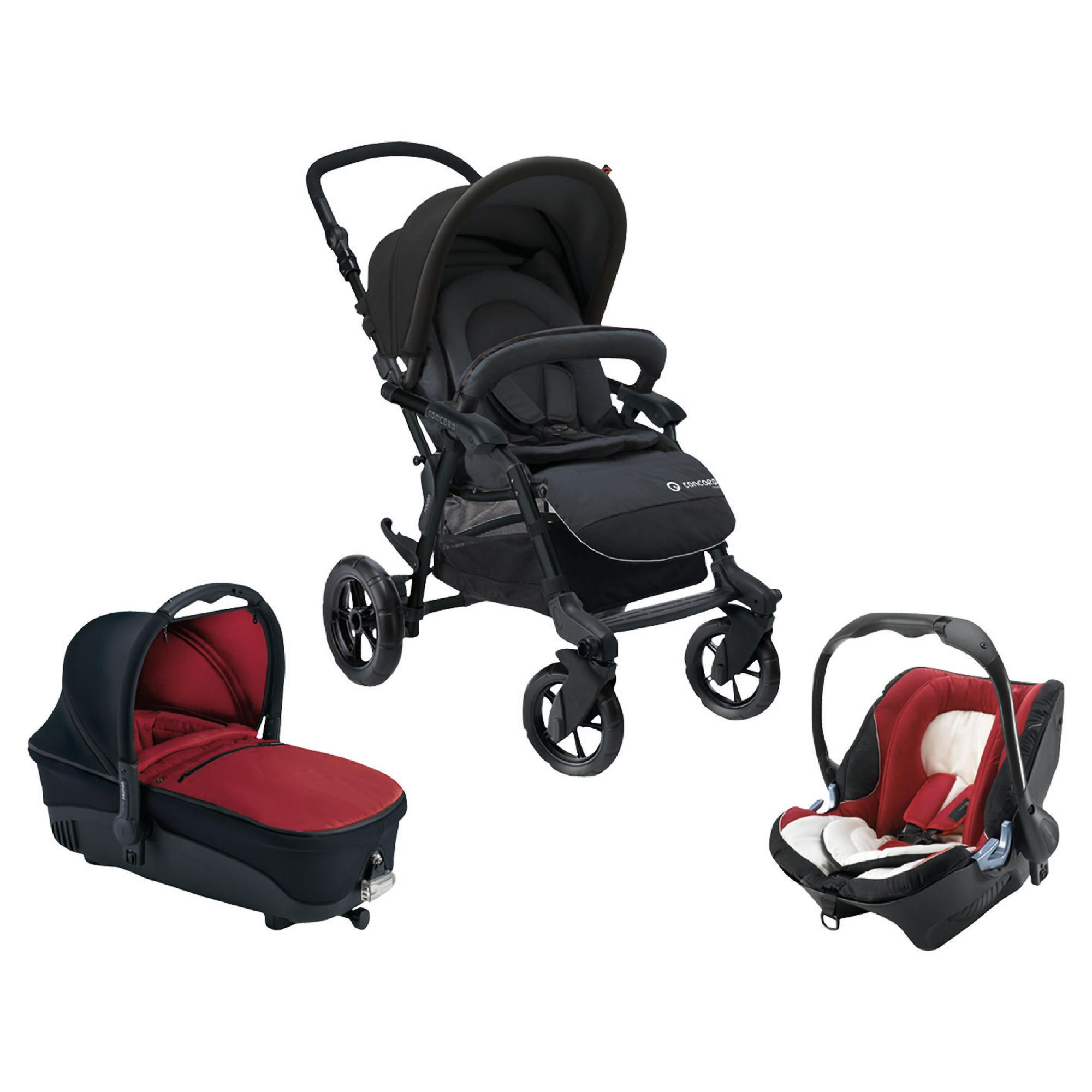 Concord Fusion Travel System, Black & Red at Tesco Direct