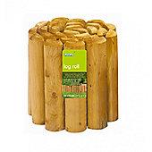 Natural Log Roll Garden Edging (1.8m x 30cm)