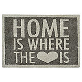 Mrs Mat Home Is Where The Heart Is Door Mat - L75xW50cm