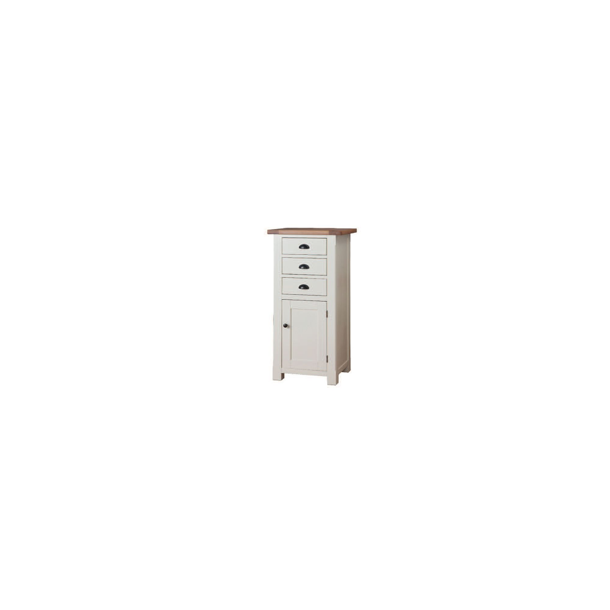 Wilkinson Furniture Buttermere Three Drawer Tallboy in Ivory at Tesco Direct
