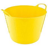 15L Plastic Flexi Tub with Handles - Yellow