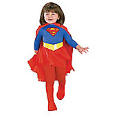 Rubies Fancy Dress - Deluxe Supergirl Costume - Small. UK Size 3-4 Years - 18726