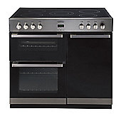 Belling DB490E Electric Range Cooker in Black (with Stainless Steel handles & fascia)