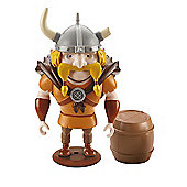 Mike the Knight - 9cm Broken Horn Figure with Barrel