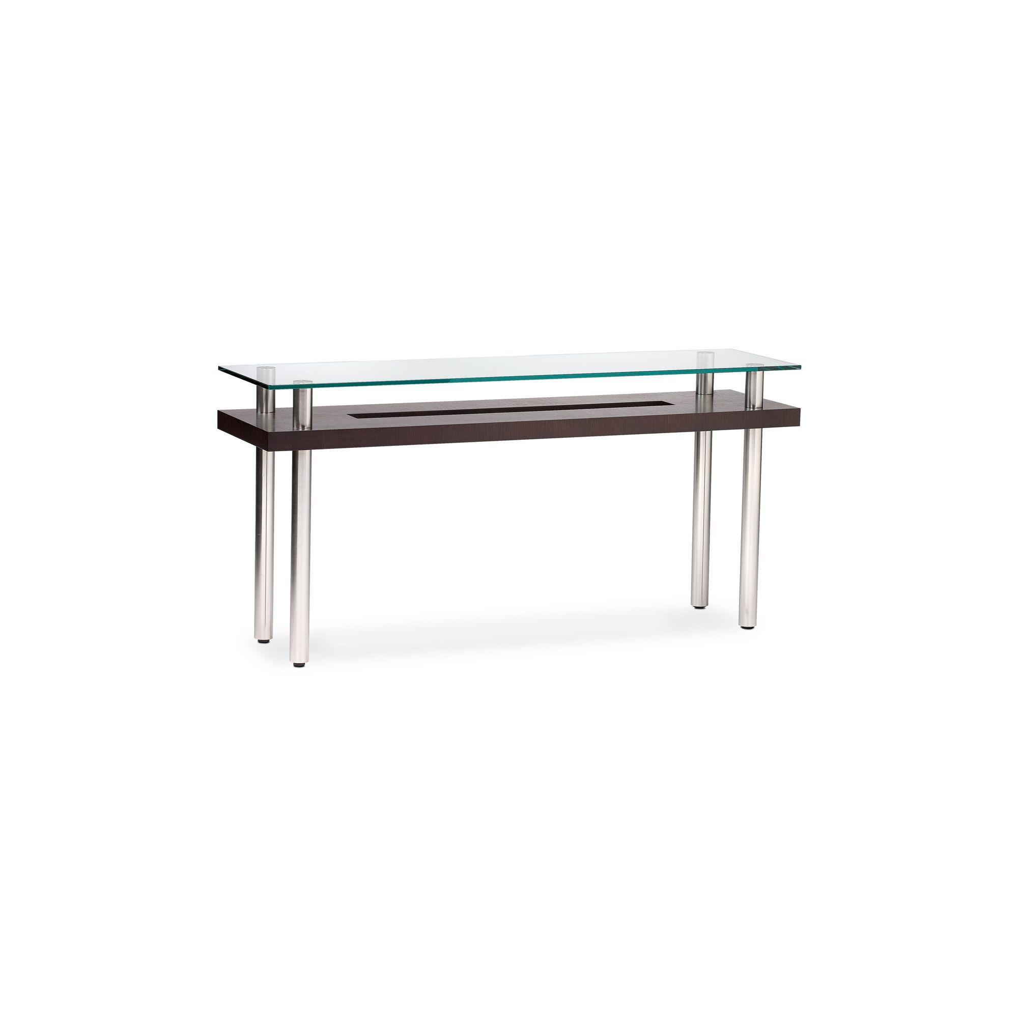 BDI Espresso Stained Oak Console Table