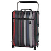 IT Luggage World's Lightest 2-Wheel Small Stripe Black Suitcase