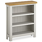 Cotswold Painted Low Bookcase - Matt Stone Grey