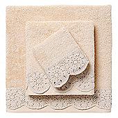 El Corte Ingles Macrame Towel - Beige