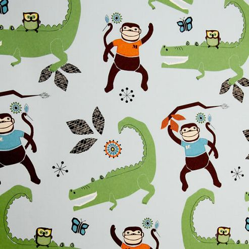 Rosehip Gift Wrap - Monkey and Crocodile