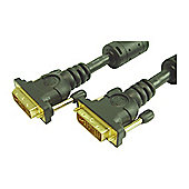 DVI-D Male Single Link Digital Monitor Cable Lead 1.5M