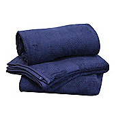 Homescapes Turkish Cotton Navy Blue Bath Towels Set