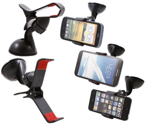 SuperClaw Universal Dashboard / Windscreen, Case Compatible Suction Mount In Car Holder For Samsung N7100 Galaxy Note 2.