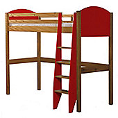 Verona High Sleeper Bed Antique With Red Details
