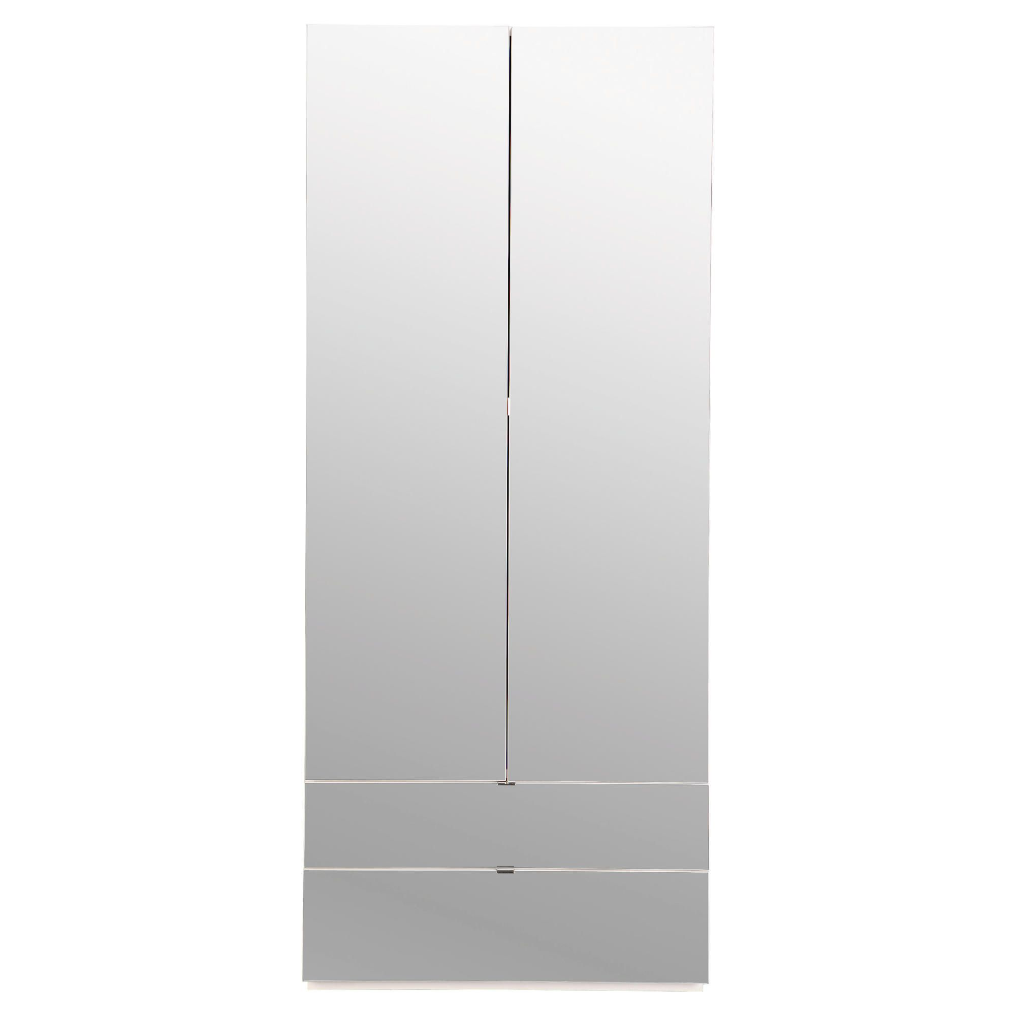 Palermo 2 Door Wardrobe White Mirrored at Tesco Direct
