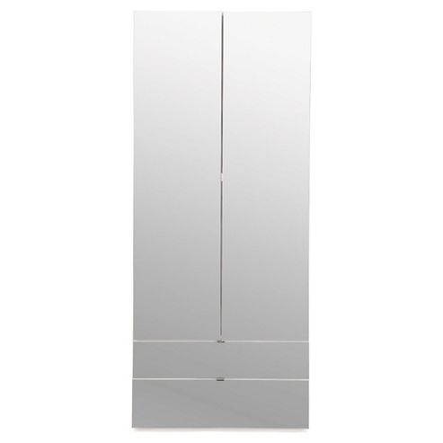 Palermo 2 Door Wardrobe, Mirrored