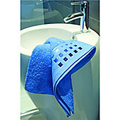 Catherine Lansfield Bathroom mosaic hand towel, 50X80, blue
