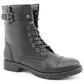 Ladies Emilio Luca X Military Road Black Ankle Boots