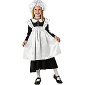 Rubie's Fancy Dress - Victorian Maid Costume - CHILD LARGE UK 7-8 Years