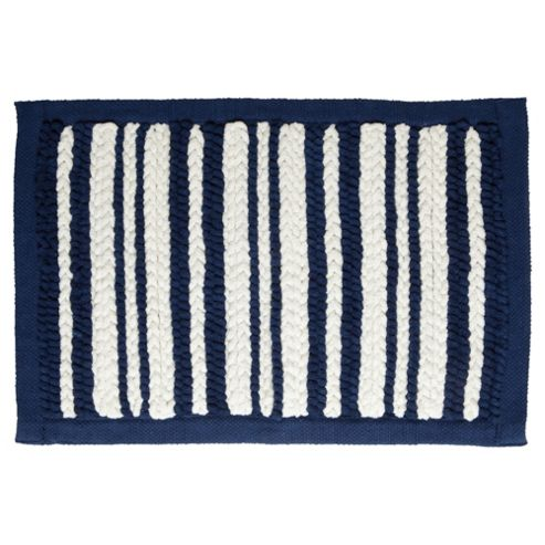 Tesco Nautical Stripe Knit Bath Mat