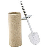 Tesco Stone Effect Word Toilet Brush and Holder