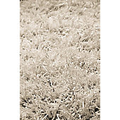 InRUGS Diamond White Shaggy Rug - 230cm x 160cm (7 ft 6.5 in x 5 ft 3 in)