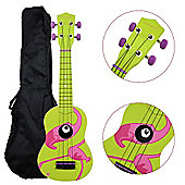 Rocket Soprano Ukulele inc Bag - Flamingo