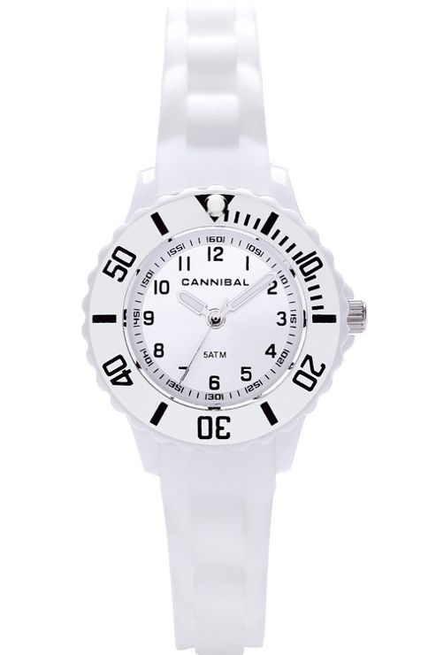 Cannibal Kids Girls White Rubber Strap Watch CK226-01