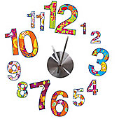 Colourful Clock Wall Stickers