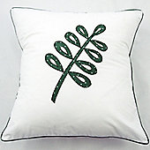 Leafy Green Cotton Children's Cushion