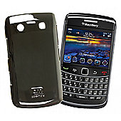 Blackberry 9700 Barely There - Metallic Silver ( Rubber) Case