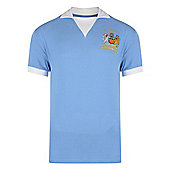 Man City 1976 League Cup Final Shirt - Sky blue