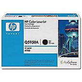 HP Black Print Cartridge (Yield 11,000) with ColorSphere Toner for LaserJet 4700 Colour Printer