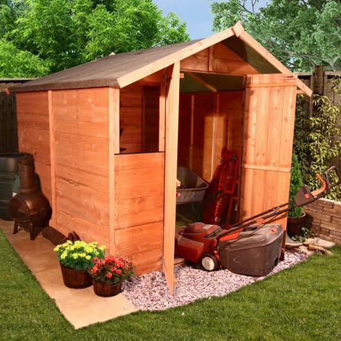 Buy billyoh 4000m kent tongue and groove garden shed from for Garden shed tesco