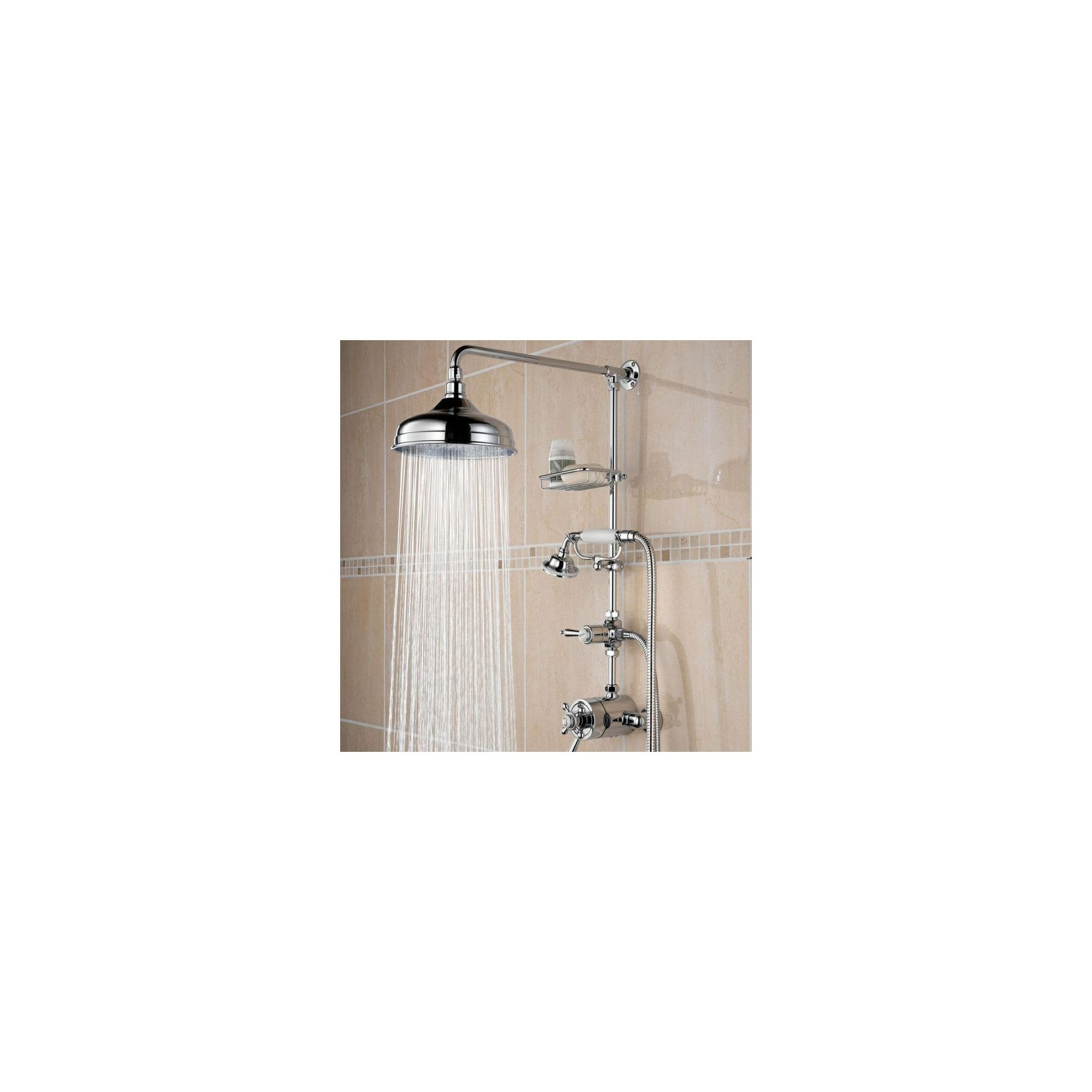 Bristan Trinity Thermostatic Surface Mounted Shower with Rigid Riser and Divertor to Shower Handset Chrome Plated at Tesco Direct