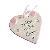 Mother of the Groom Pink Sparkle Heart - Large