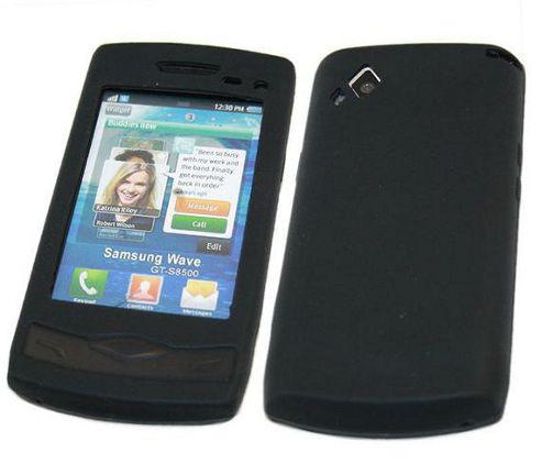 iTALKonline Silicone Case Black For - Samsung S8500 Wave