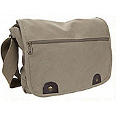 Summit Messenger Bag with Front Zip Khaki