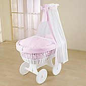 Leipold Kids Wicker Drape Crib - Pink