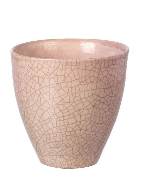 buy parlane ceramic crackle pink flower plant pot 14 x. Black Bedroom Furniture Sets. Home Design Ideas
