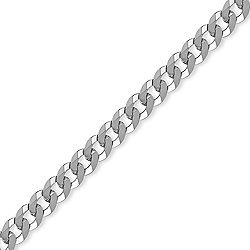 Sterling Silver 7mm Gauge Curb Chain - 26 inch