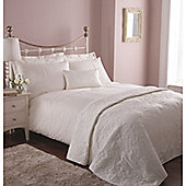 Catherine Lansfield Home Platinum Classic Bouquet King Size Duvet Cover Set Cream
