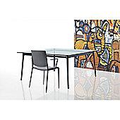 Rexite Alex Dining Table - Polished - Matt Glass