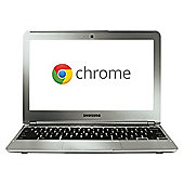 """Samsung XE303 Chromebook, E5250, 2GB, 16GB, 11"""", Silver"""