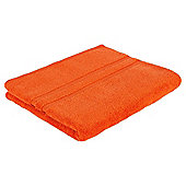 Tesco 100% Combed Cotton Bath Towel Orange
