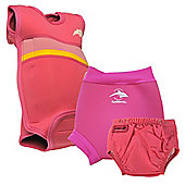 Konfidence Babywarma and Swim Nappies Set Pink - Pink