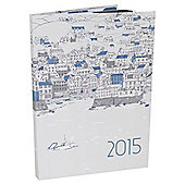 Whitstable Scene Flexi Cover 2015 Diary A5 Week To View