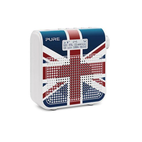 ONE-MINIII Mini Series II DAB/FM Radio with 16 Presets in Union Jack