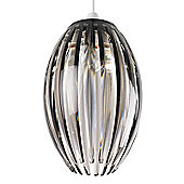 Endon Lighting One Light Non-Electric Pendant - Smoke Finish