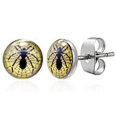 Urban Male Men's Earrings Spider Studs In Stainless Steel 7mm