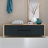 Oestergaard Mille Low Chest of Drawers 159cm - Heartwood Beech solid / MDF Black